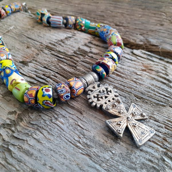 guilded ethiopian cross trade beads