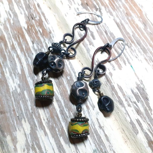 trade bead earrings