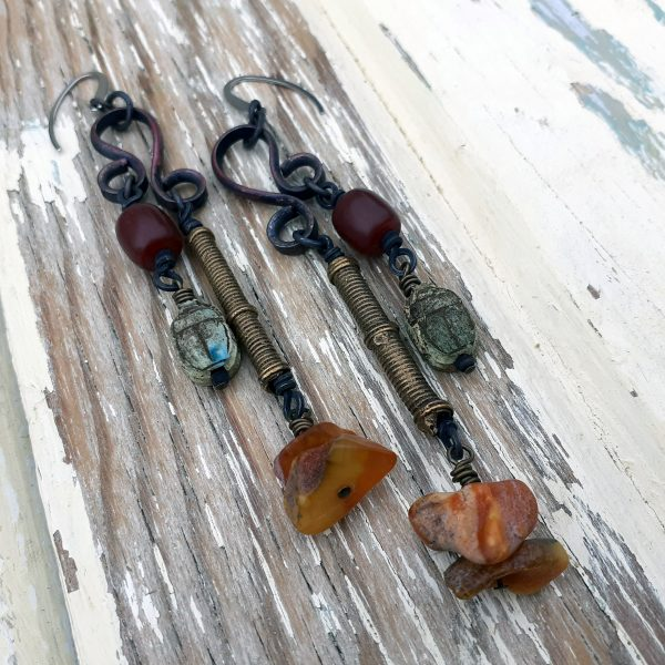 long dangly earrings