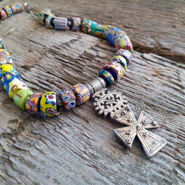 guilded ethiopian cross trade beads