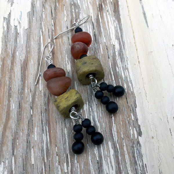 Hebron bead earrings